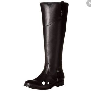 frye black leather riding boots size 7.5 women's